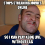 stops streaming movies online