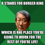 b stands for burger king