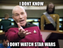 No star wars picard
