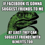 Facebook friends with benefits