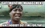 Gateway time management