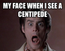 my face when i see a centipede